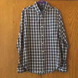 Plaid Banana Republic button down